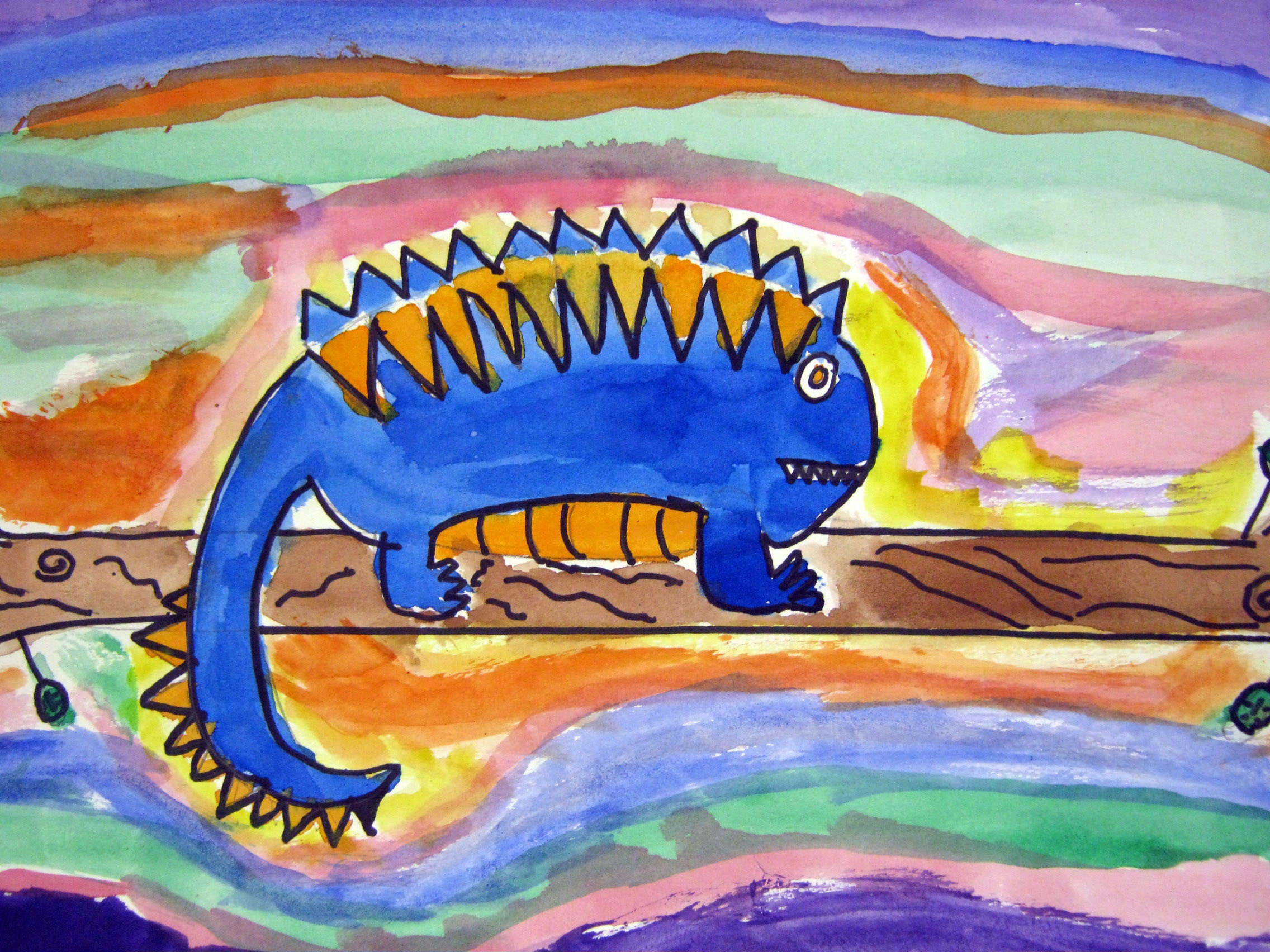 Complementary Colored Iguanas Masterpiece Momma